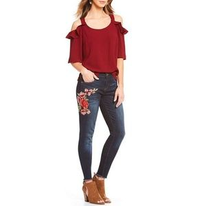 KUT from the KLOTH Donna SKINNY Floral Jeans